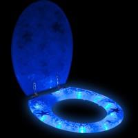 Beleuchtete Klobrille(LEDs) Beispiel bei Nacht
