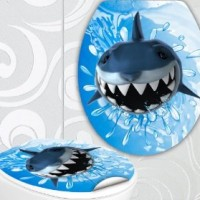 designer klodeckel aufkleber hai