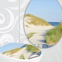 designer klodeckel aufkleber strand